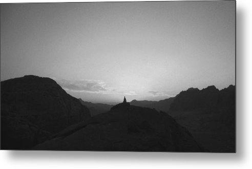 Landscape Metal Print featuring the photograph Petra Cairn by Arvind Garg