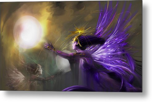 Fairies Metal Print featuring the digital art Sphere Makers Of Emergging Consciousness by Stephen Lucas