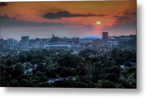 Syracuse Metal Print featuring the photograph Syracuse Sunrise by Everet Regal