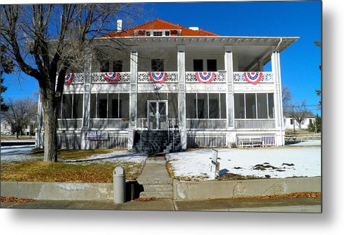 Fort Bayard Metal Print featuring the photograph Fort Bayard Commandant's House by Feva Fotos