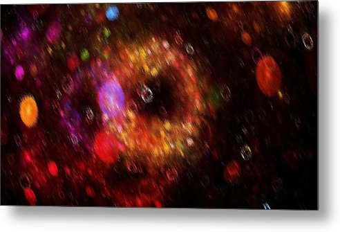 Color Metal Print featuring the painting Abstract Rain by Steve K
