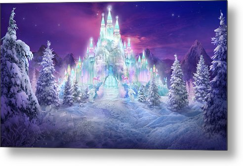 Philip Straub Metal Print featuring the mixed media Ice Castle by Philip Straub