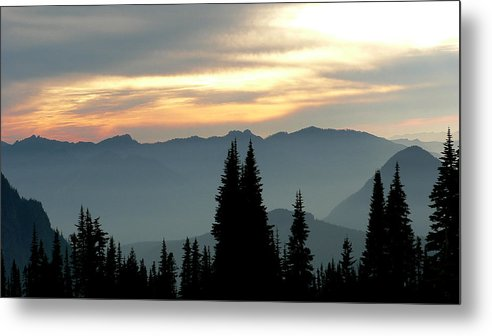 Mountains Metal Print featuring the photograph Peaks And Valley by Larry Keahey