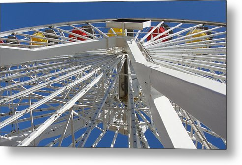 Ferris Metal Print featuring the photograph Spokes Of A Ferris Wheel by Kathi Tesone