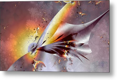 Stingray Metal Print featuring the digital art Stingray by Dan Turner