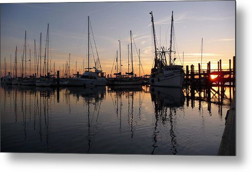 Sunset Metal Print featuring the photograph Sunset At St. Marys by Joel Deutsch