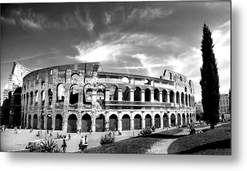 City Metal Print featuring the photograph Colloseum by Hilthart Pedersen