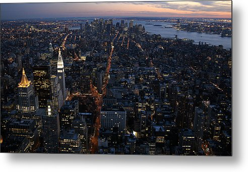 Manhattan Metal Print featuring the photograph Downtown From Midtown by Joshua Francia