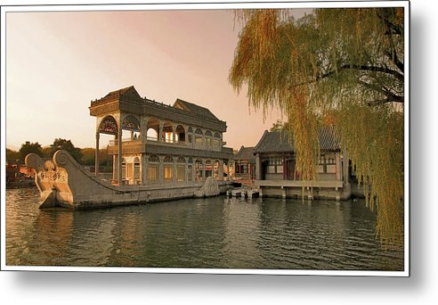 Boat Metal Print featuring the photograph Marble Boat by Saeed Mostofi