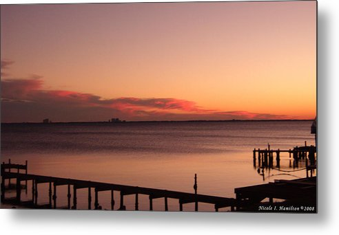 Sky Metal Print featuring the photograph Pink Skyline by Nicole I Hamilton