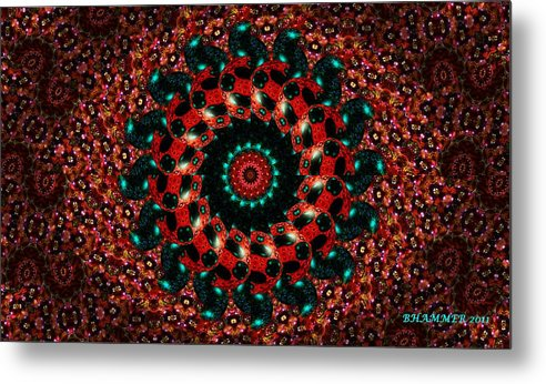 Decorative Metal Print featuring the digital art Through The Minds Eye by Bobby Hammerstone