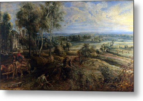 Peter Paul Rubens Metal Print featuring the digital art A View Of Het Steen In The Early Morning by Peter Paul Rubens