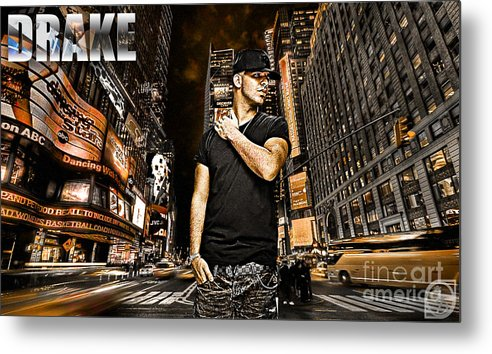 Drake Metal Print featuring the digital art Street Phenomenon Drake by The DigArtisT