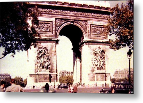 1955 Metal Print featuring the photograph Arc De Triomphe 1955 by Will Borden