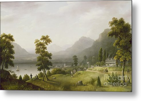 Carter Metal Print featuring the painting Carter's Tavern At The Head Of Lake George by Francis Guy