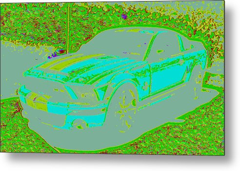 Metal Print featuring the digital art Ford Shelby D4 by Modified Image