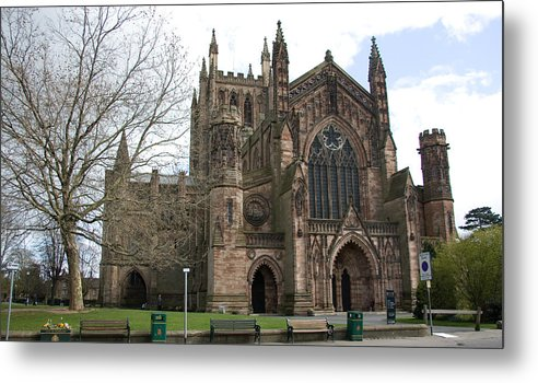 Cathedral Metal Print featuring the photograph Hereford Cathedral England by Bob Kemp