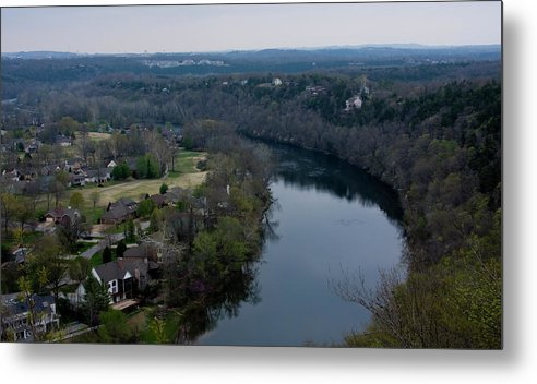 Table Rock Lake In Branson Missouri Metal Print featuring the photograph Living On The Lake by Gwen Vann-Horn