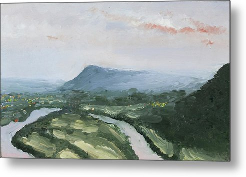 Chattanooga Metal Print featuring the painting Lookout Mountan by Craig Caldwell