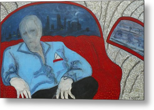 Painting Metal Print featuring the painting The Passenger by Todd Peterson