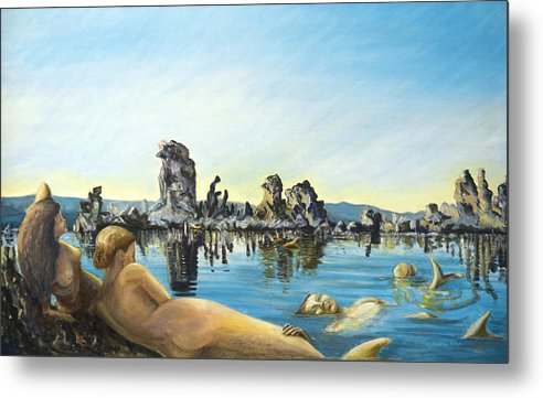 Seascape Metal Print featuring the painting Anima by Aymeric NOA