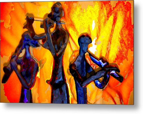 Music Metal Print featuring the photograph Fire Music by Danielle Stephenson