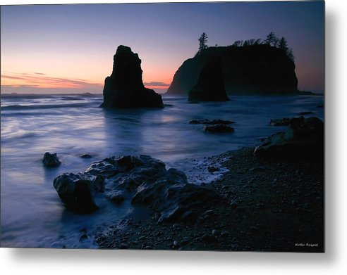Sunset Metal Print featuring the photograph Last Light At Ruby Beach by Winston Rockwell