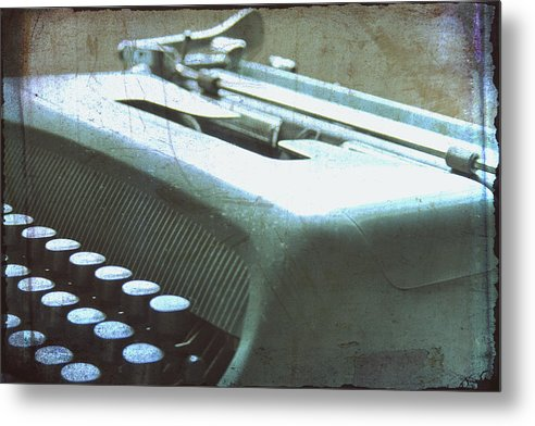 Olivetti Typewriter Metal Print featuring the photograph 1952 Olivetti Typewriter by Georgia Fowler