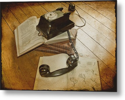 Vintage Telephone Metal Print featuring the photograph Please Hold by Georgia Fowler