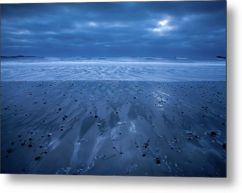 Beach Metal Print featuring the photograph Blue Sunrise by Susan Cole Kelly