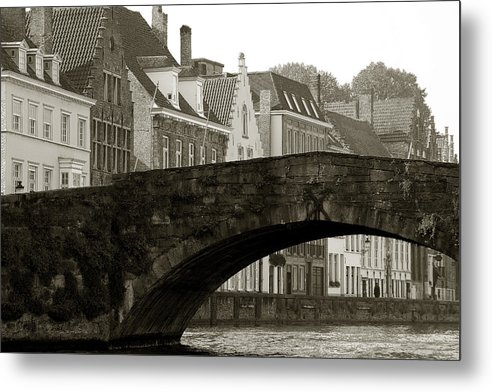 Bruges Metal Print featuring the photograph Canal View Of Bruges by Jan Kapoor