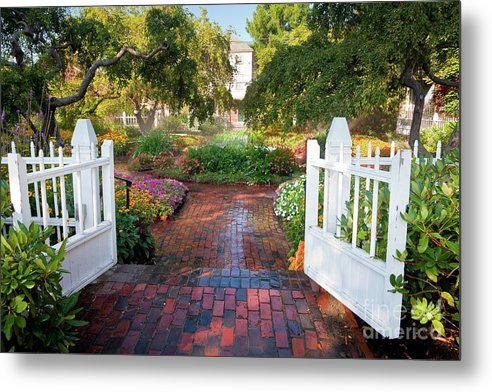 August Metal Print featuring the photograph Garden Gate by Susan Cole Kelly