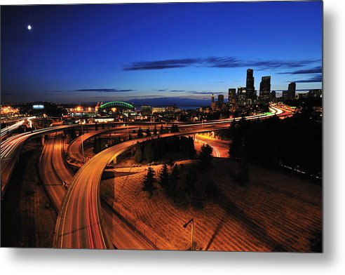 Seattle Metal Print featuring the photograph In To Emerald City C083 by Yoshiki Nakamura