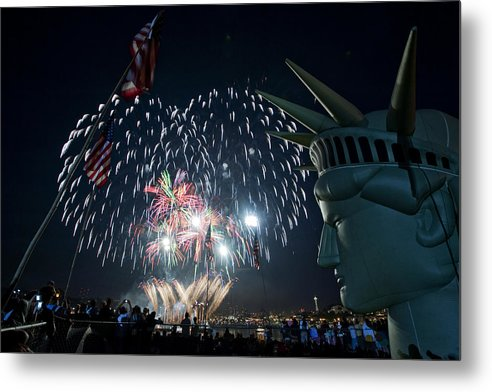 Fireworks Metal Print featuring the photograph July 4th 2009 B168 by Yoshiki Nakamura
