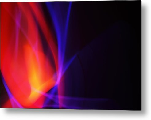 Abstract Metal Print featuring the photograph Painting With Light 5 by Chris Rodenberg