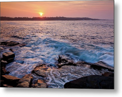 Acadia National Park Metal Print featuring the photograph Red Sky In The Morning by Susan Cole Kelly