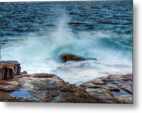 Acadia National Park Metal Print featuring the photograph Splash by Susan Cole Kelly