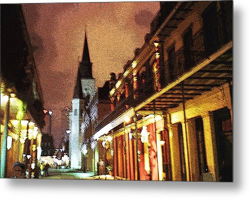 New Orleans Metal Print featuring the photograph The Cathedral At Night by Raven Creature