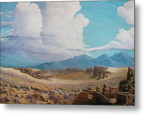 Landscape Metal Print featuring the painting Time Stands Still by John Wise