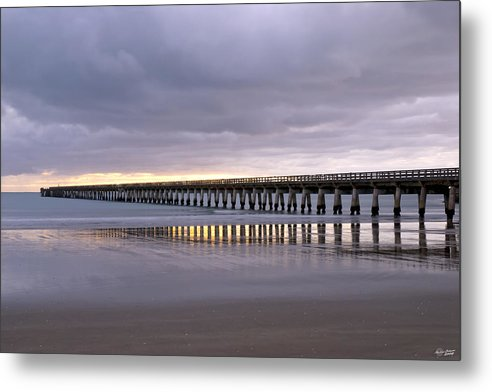 New Zealand Metal Print featuring the photograph Tolaga Bay Pier by Andrea Cadwallader