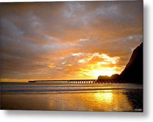 Tolaga Metal Print featuring the photograph Tolaga Bay Pier IIi by Andrea Cadwallader
