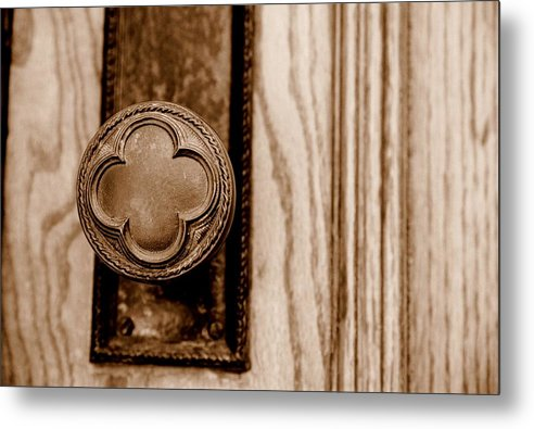 Doorknob Metal Print featuring the photograph Antique Doorknob by Caroline Clark