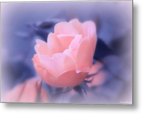 Flower Metal Print featuring the pyrography Mood Expression by Larry Moore