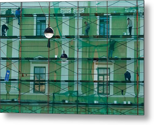 People Metal Print featuring the photograph Web And Spiders by Vadim Grabbe
