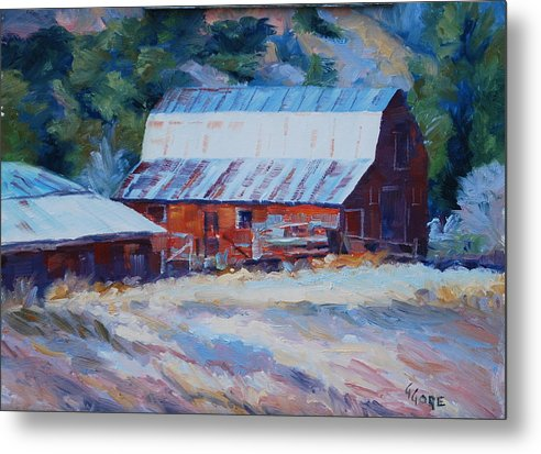 Barn Metal Print featuring the painting Cedar Hill Barn by Gary Gore