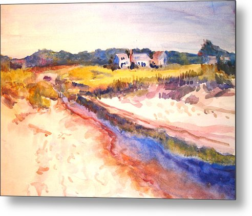 Landscape Metal Print featuring the painting Cole Brook by Joyce Kanyuk