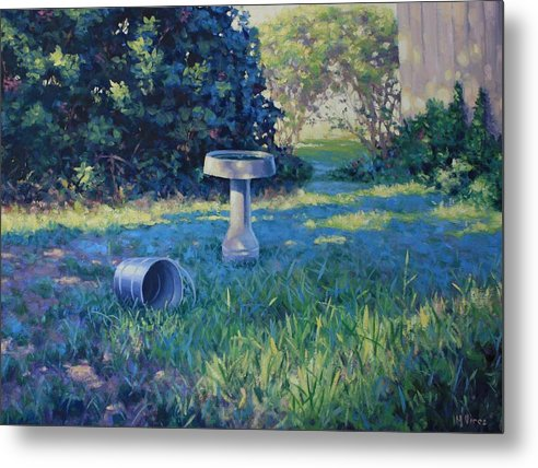 Landscape Metal Print featuring the painting Morning Bathwater by Michael Vires