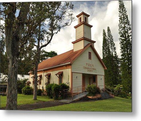Metal Print featuring the photograph Pu'ula Congregational Church - Nanawale by Steven Rice