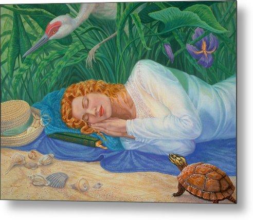 Seashore Metal Print featuring the painting Sweet Dreams by Pat Lewis