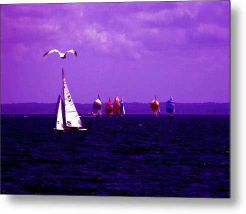 Sailboat Metal Print featuring the photograph Way Up In The Clouds by Kendall Eutemey
